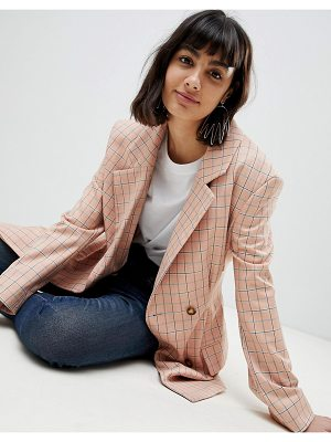 Asos White check blazer