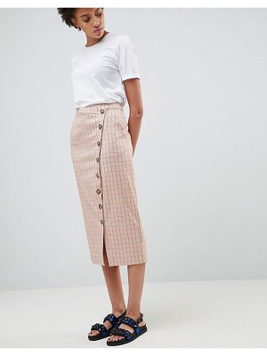 ASOS WHITE Asos White Check Skirt