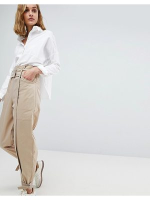 ASOS WHITE Asos White High Waist Two-Piece Pants