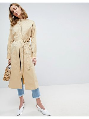 Asos White oversized shirt dress-stone