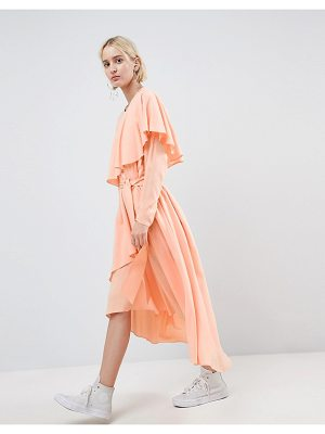 Asos White soft layered maxi dress-pink