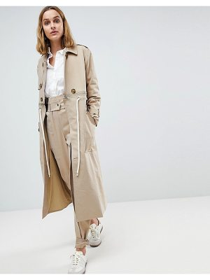 Asos White asos white trench coat two-piece with rope detail