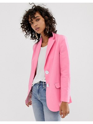 Asos White oversized suit jacket-pink
