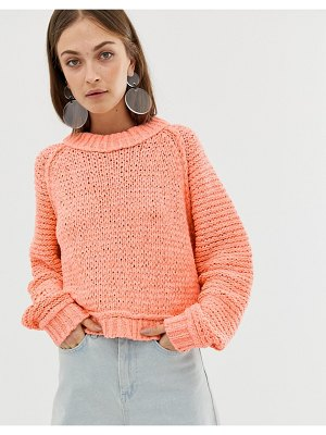 Asos White tape yarn sweater