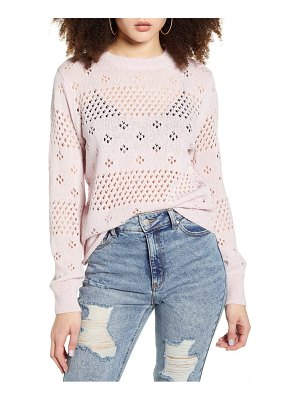 ASTR the Label belle pointelle sweater