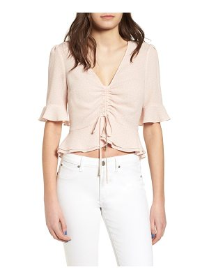 ASTR THE LABEL Cinch Front Crop Top