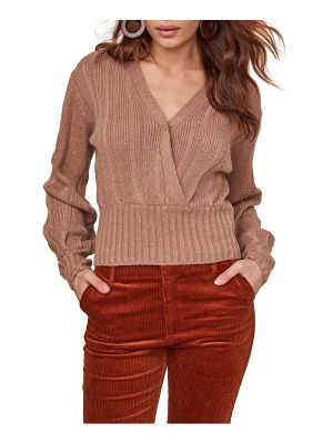 ASTR the Label evie surplice cotton blend sweater