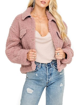 ASTR the Label faux shearling trucker jacket