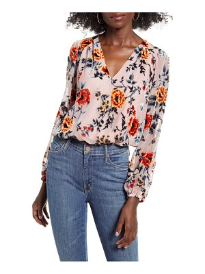 ASTR the Label faux wrap burnout top