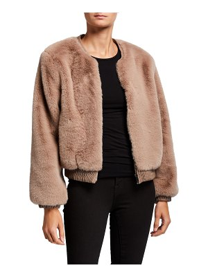 ASTR the Label Frankie Faux-Fur Bomber Jacket