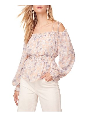ASTR the Label harlee floral cold shoulder top