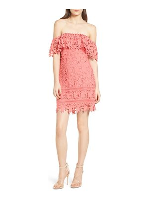 ASTR THE LABEL Off The Shoulder Lace Minidress