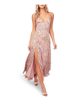 ASTR the Label pandora high slit floral print maxi sundress