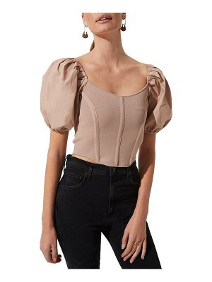 ASTR the Label puff sleeve corset top