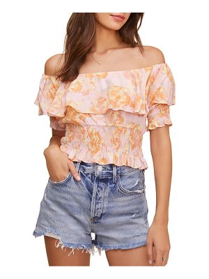 ASTR the Label rosalia floral off the shoulder top