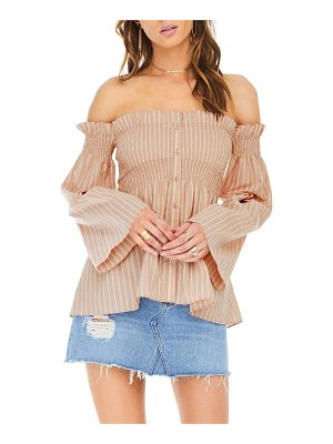 ASTR the Label shelby off the shoulder top