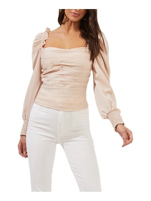 ASTR the Label square neck puff sleeve top