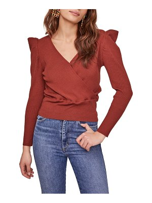 ASTR the Label suki surplice puff shoulder sweater