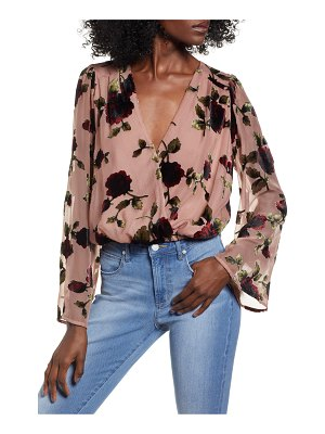 ASTR the Label surplice cut velvet top