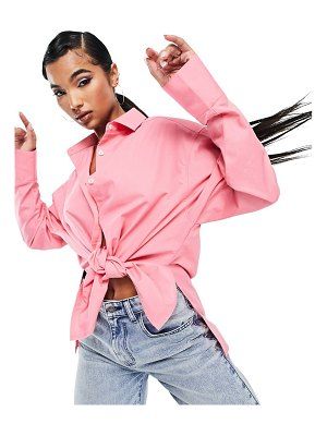AsYou oversized shirt with back branding in pink