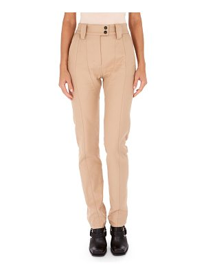 ATLEIN High-Waist Slim Straight-Leg Cotton Pants