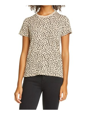 ATM Anthony Thomas Melillo schoolboy cheetah print slub cotton tee