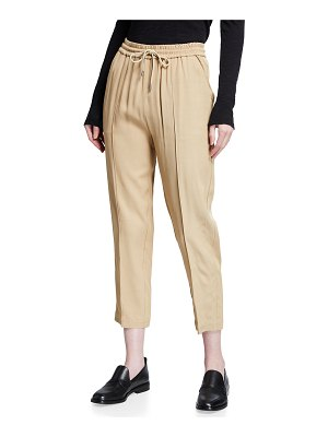ATM Anthony Thomas Melillo Viscose Twill Cropped Pull-On Pants