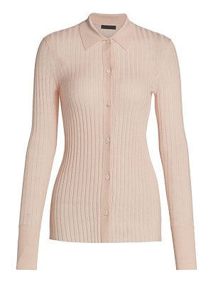 ATM Anthony Thomas Melillo wool rib button-down sweater