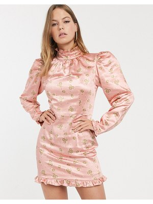 Atoir what's on your mind high neck ruffle mini dress-pink