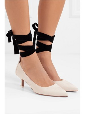 Attico bella moire and velvet pumps