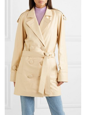 Attico leather trench coat