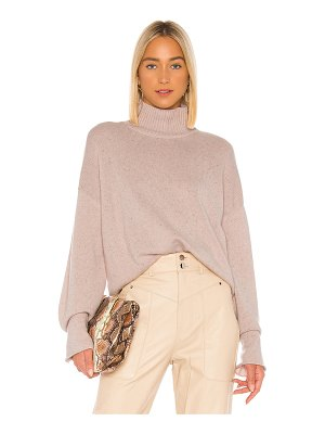 Autumn Cashmere boxy mock neck sweater