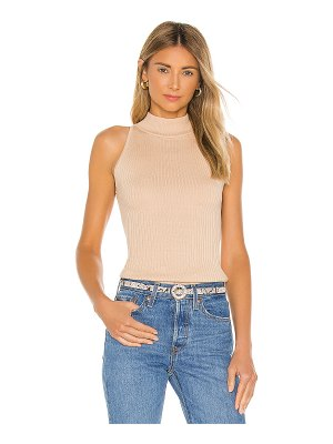 Autumn Cashmere rib mock halter top