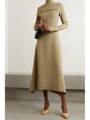 A.W.A.K.E. Mode asymmetric cutout cady turtleneck dress