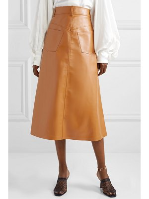 A.W.A.K.E. Mode faux leather midi skirt