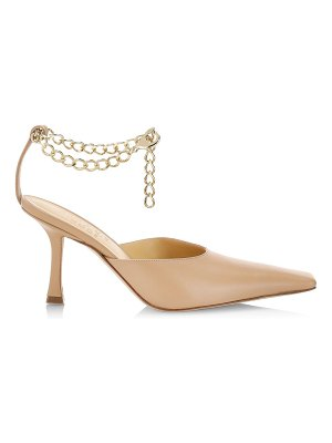 A.W.A.K.E. Mode lucrezia ankle-chain leather pumps