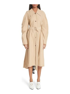 A.W.A.K.E. Round Sleeve Coat With Polka Dot Back Panel