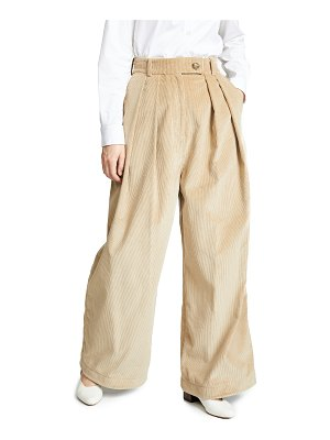 A.W.A.K.E. wide leg double pleat pants