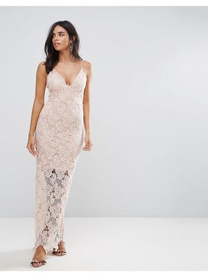 AX PARIS Ax Paris Blush Lace Maxi Dress