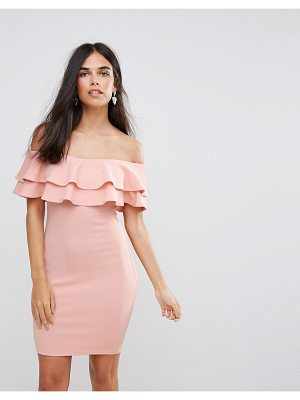 AX PARIS Ax Paris Double Ruffle Bodycon Dress