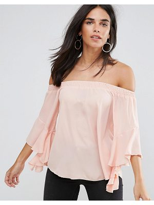 AX PARIS Blush Floaty Bardot Top