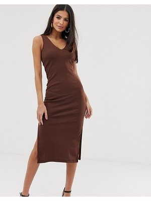 Ax Paris bodycon midi dress-brown