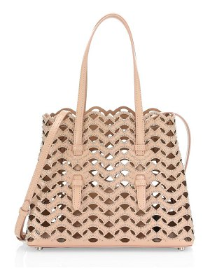 Azzedine Alaia mini triangle cutout leathertote
