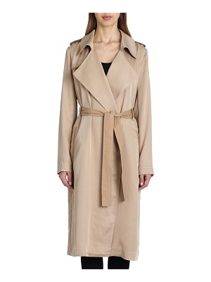 Badgley Mischka Angelina Self-Tie Trench Coat