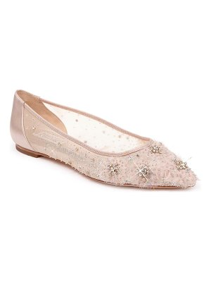 Badgley Mischka Collection badgley mischka adrienne crystal embellished skimmer flat