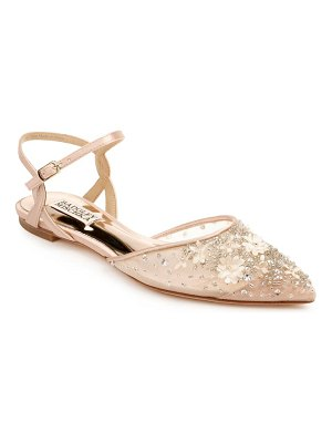 Badgley Mischka Collection badgley mischka carissa embroidered pointed toe flat