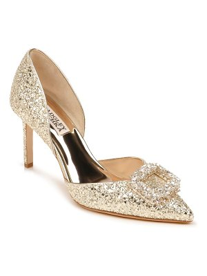 Badgley Mischka Collection badgley mischka gaiana crystal embellished pointed toe d'orsay pump