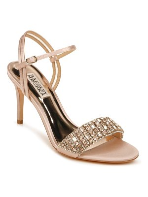 Badgley Mischka Collection badgley mischka garan crystal embellished satin sandal