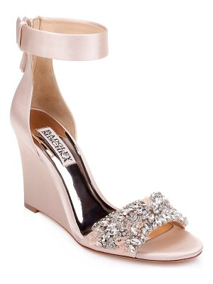 Badgley Mischka Collection badgley mischka lauren ankle strap wedge
