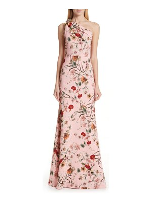 Badgley Mischka Collection badgley mischka one-shoulder floral evening dress